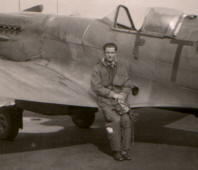 Mirek and Spitfire, probably taken between 1949 and 1953